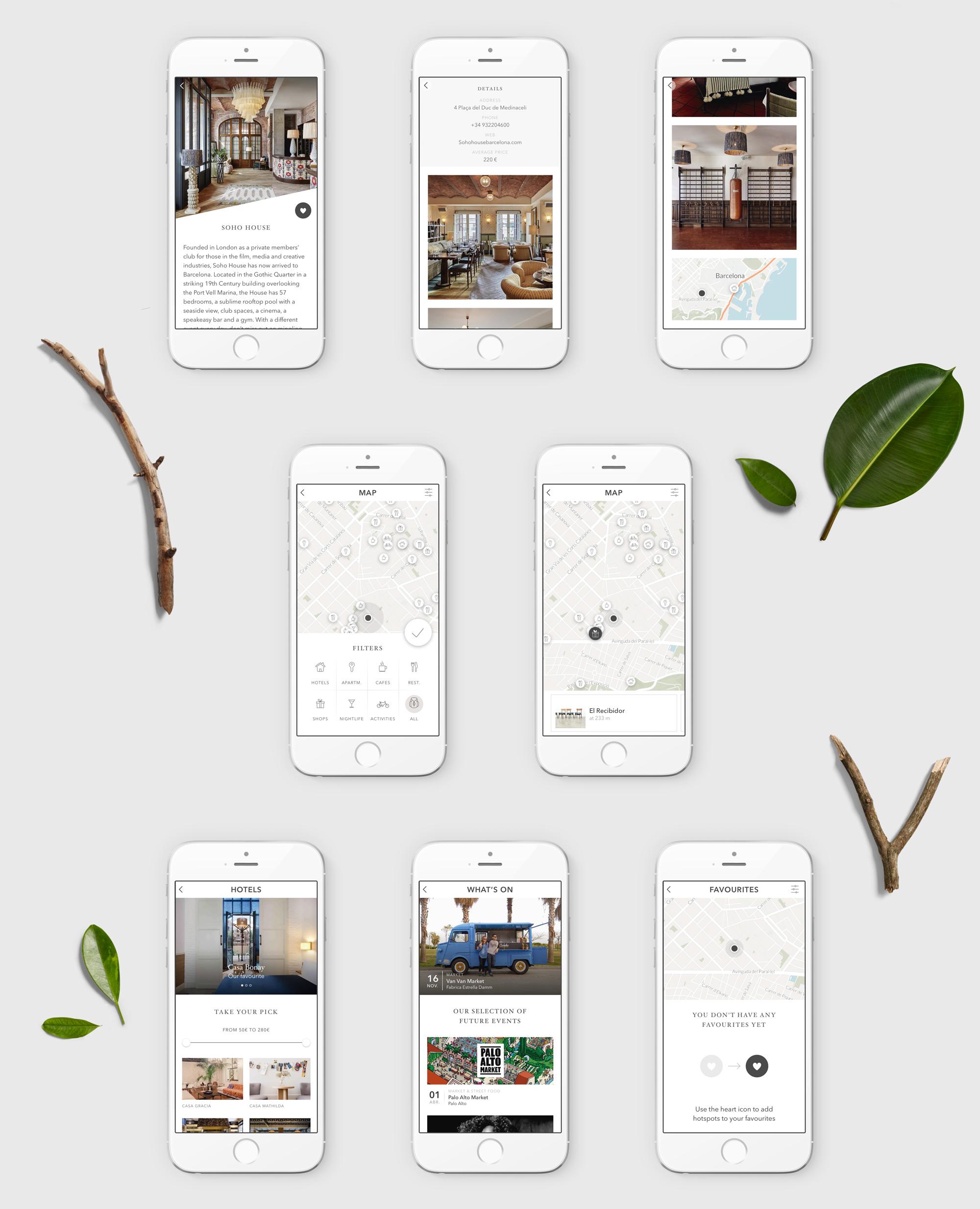 Coolmapp app ui screens