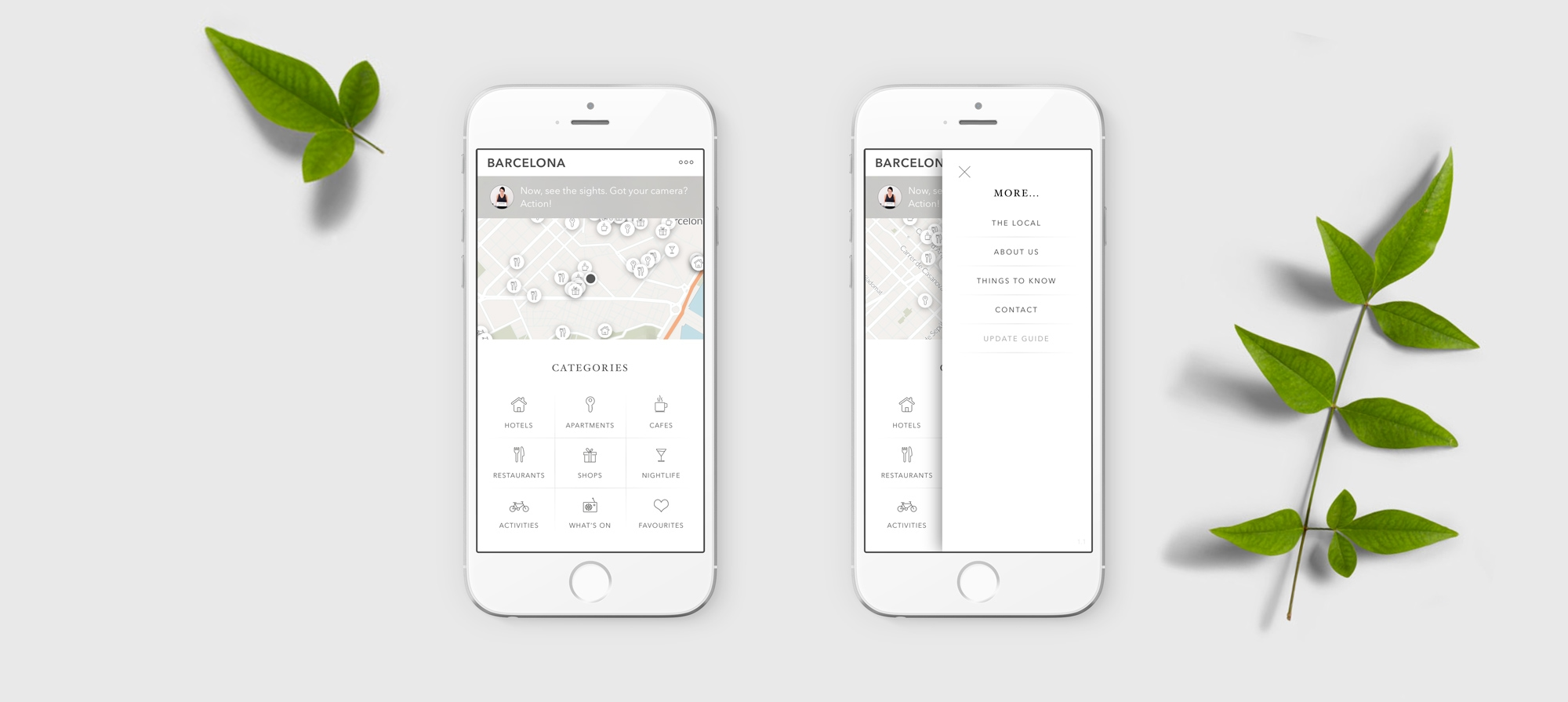 Coolmapp home app screen
